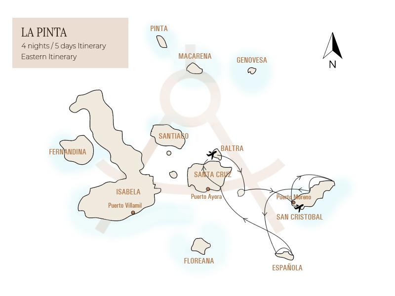 La Pinta Itinerary 1, Galapagos