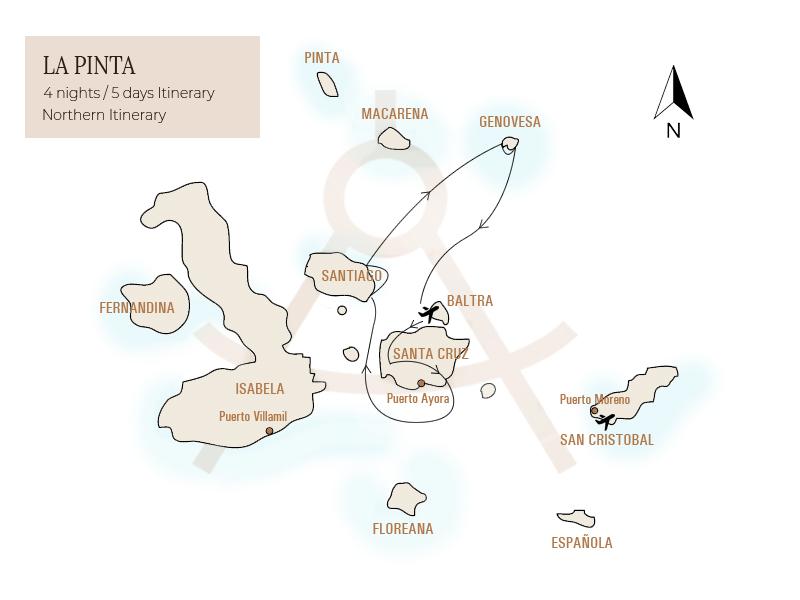 La Pinta Itinerary 2, Galapagos