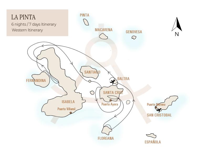 La Pinta Itinerary 3, Galapagos