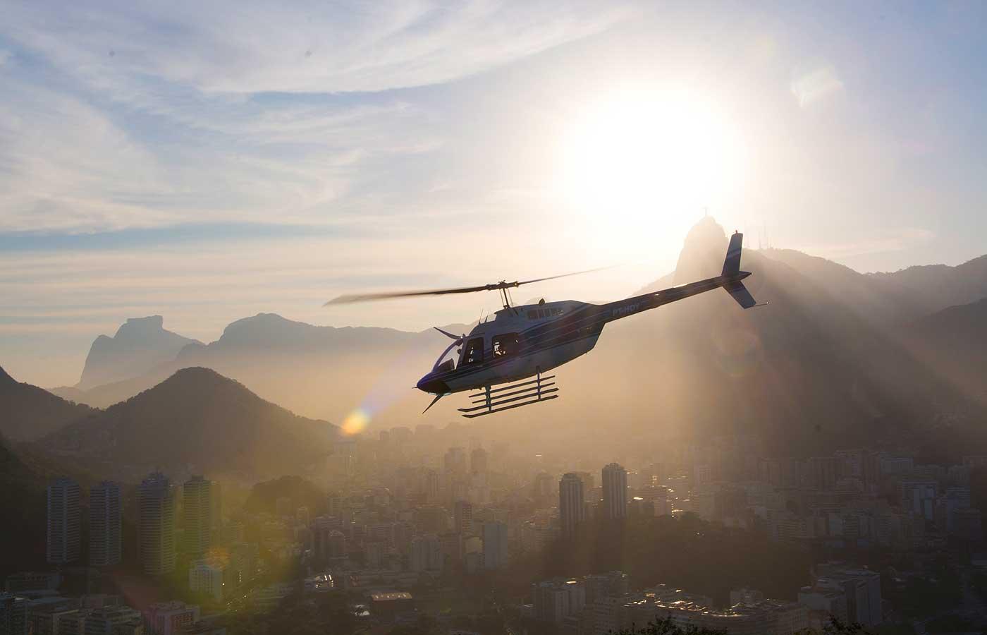 Helicopter over Rio de Janeiro, Brazil