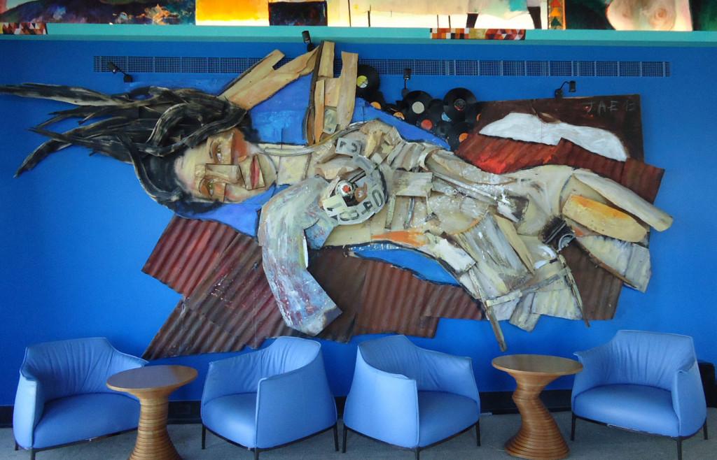Artwork in the stylish Bahia Vik hotel, Uruguay