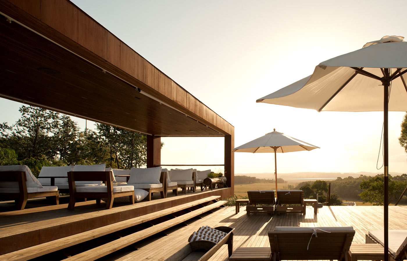 Exterior lounge of the Fasano Las Piedras, Uruguay
