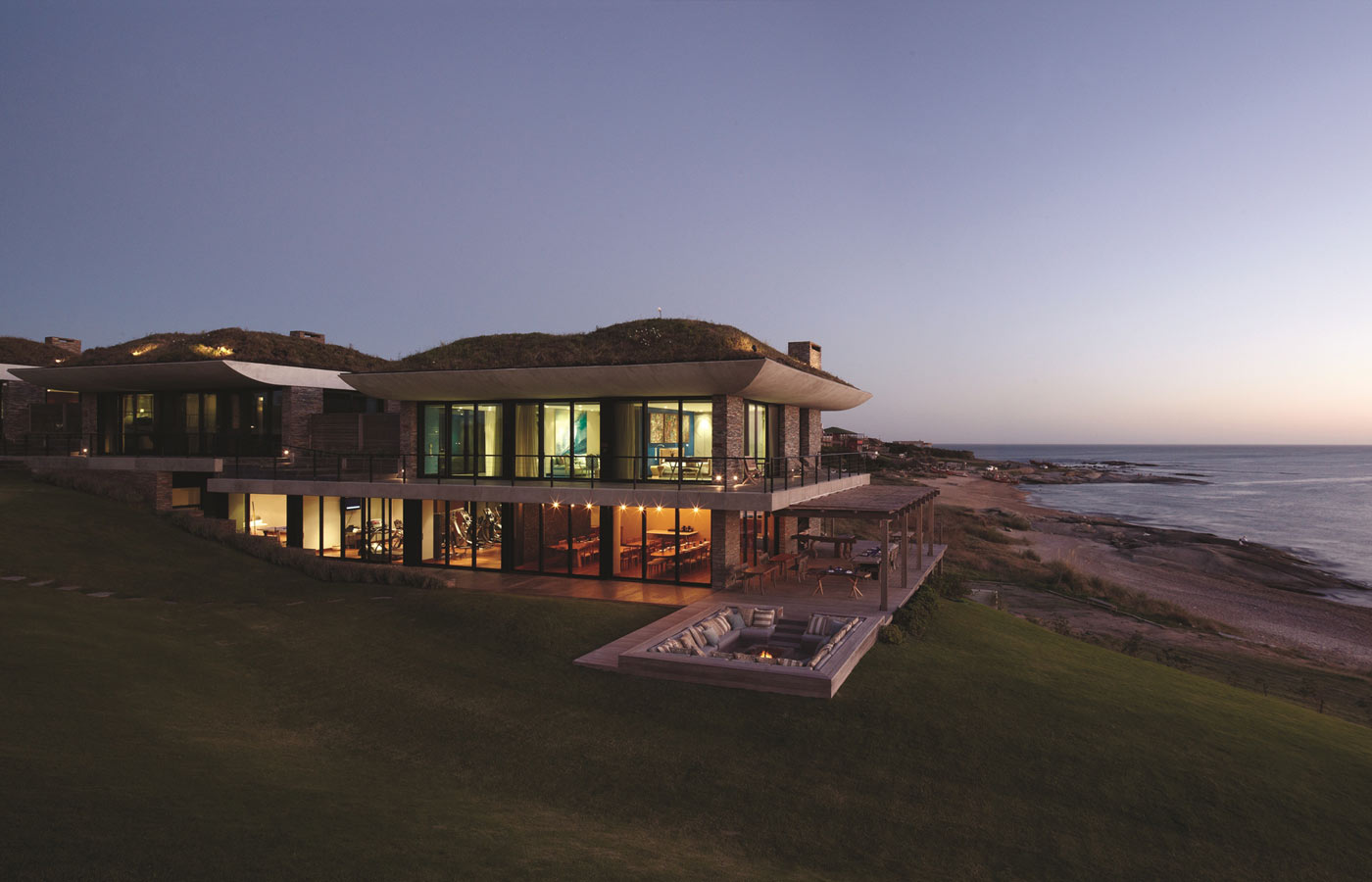 The main building of Playa Vik, Uruguay