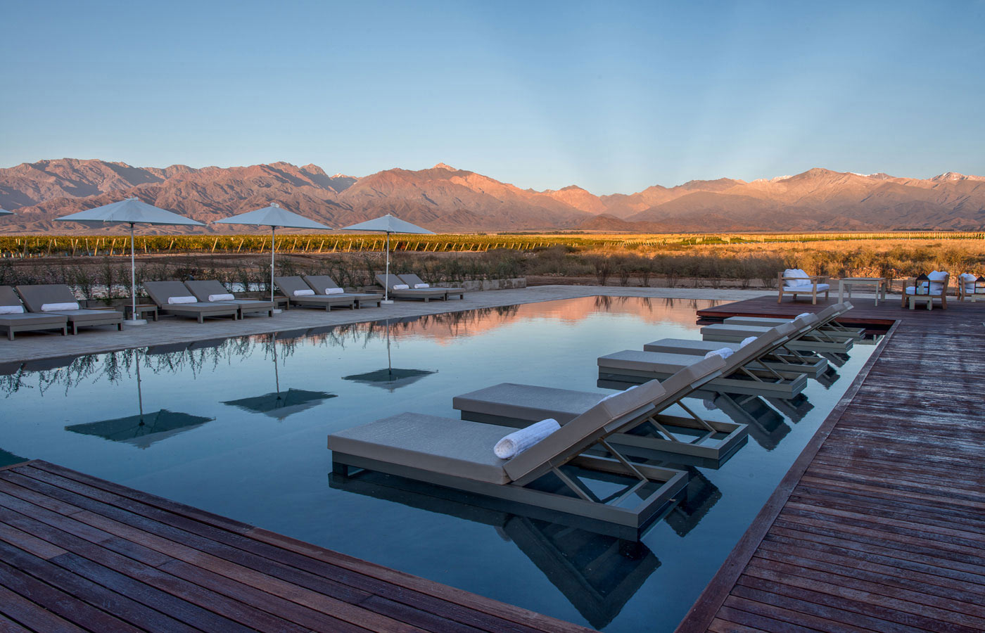 The Vines of Mendoza is one of the region's standout properties, offering a sleek and modern guest experience in this picturesque setting.