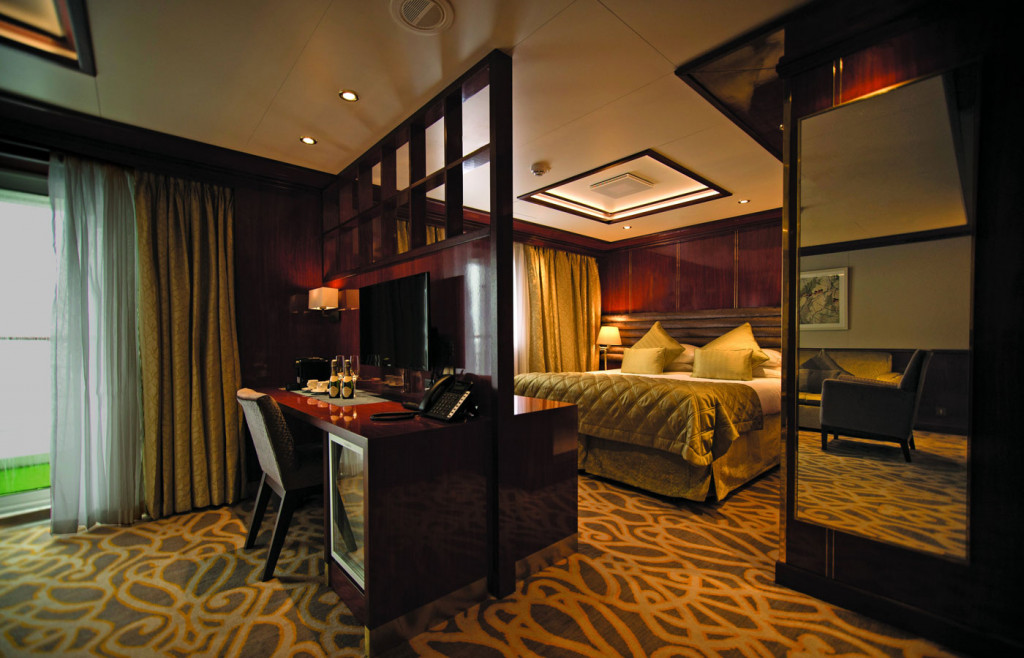 A comfortable suite aboard the Island Sky
