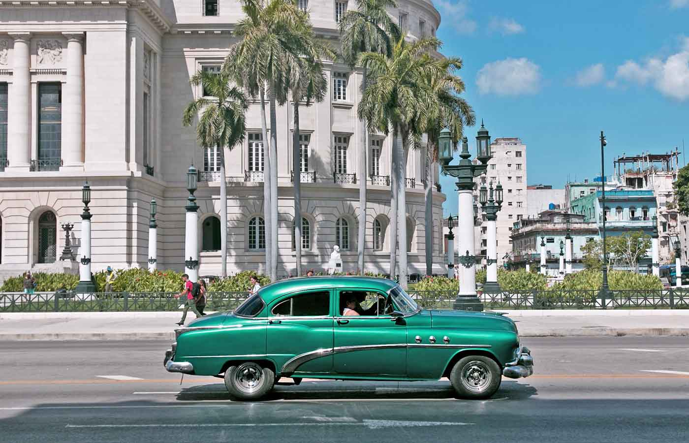 Classic cars are a common sight on the streets of Old Havana