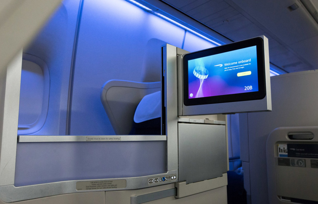 A comfortable seat in the Business Class cabin - Club World - British Airways