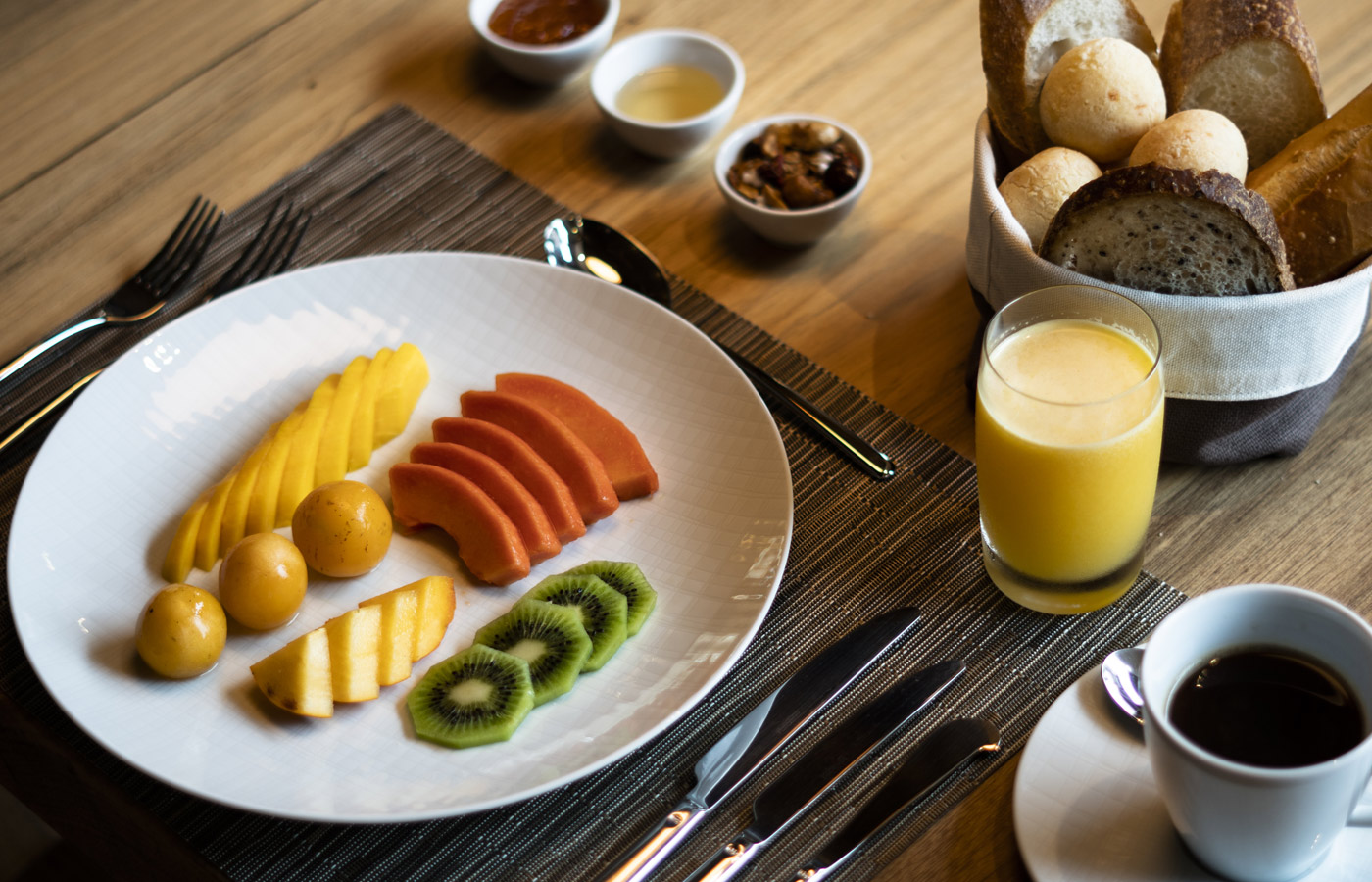 Breakfast at Hotel Casana is included in the rate