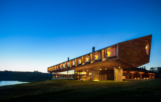 The stylish exterior of Tierra Chiloe