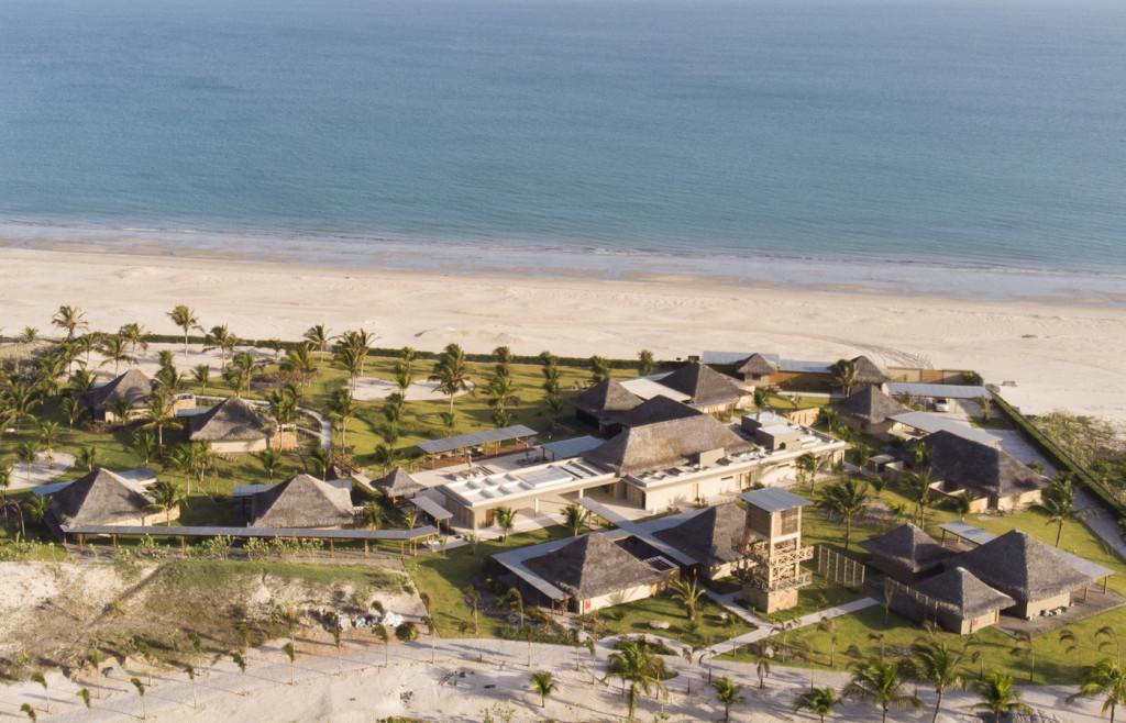 A drone photograph of the luxury hotel Casana in Prea, Brazil