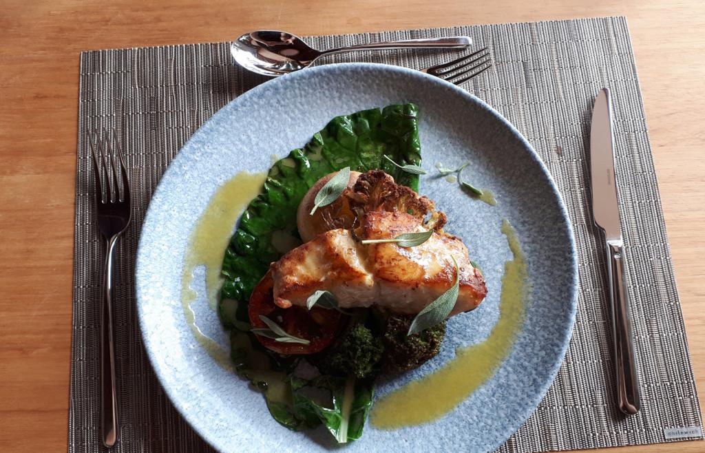 Fish dish at Hotel Casana - the food is superb