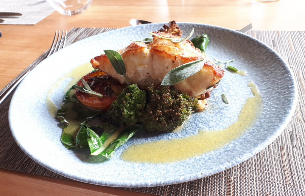 Simon's meal at Casana, Prea - the fish dishes are superb