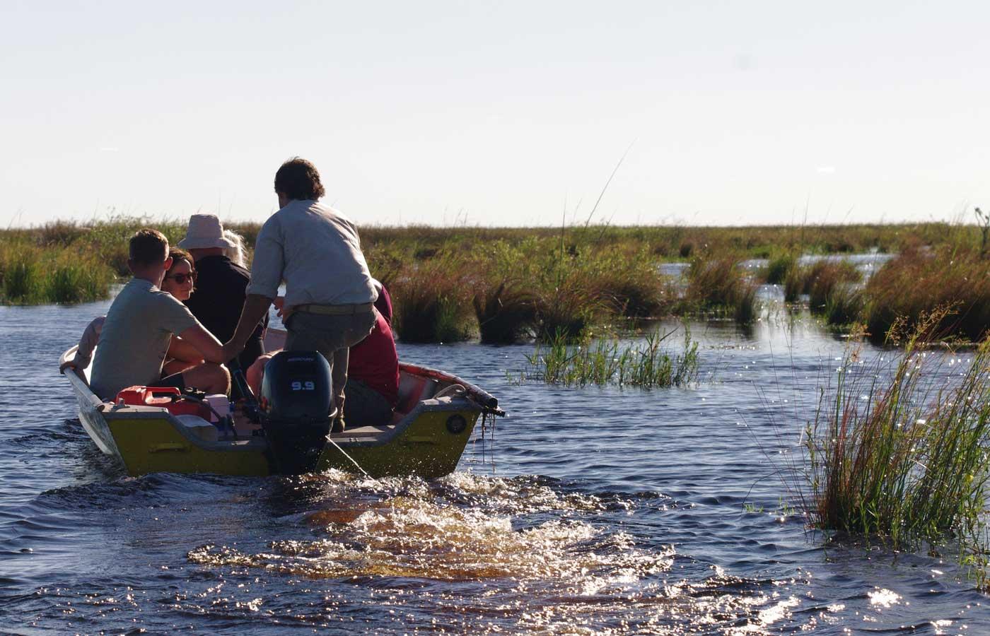 Motorboat tour in the Ibera Wetlands in Puerto Valle, Argentina