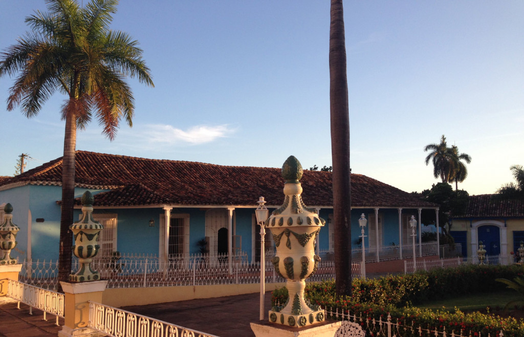 The beautiful colonial style lodging in Trinidad, Cuba