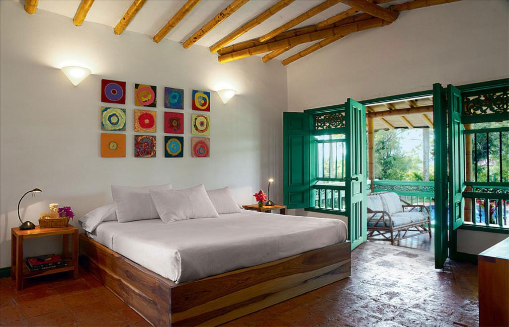 A charming room at Hacienda Bambusa
