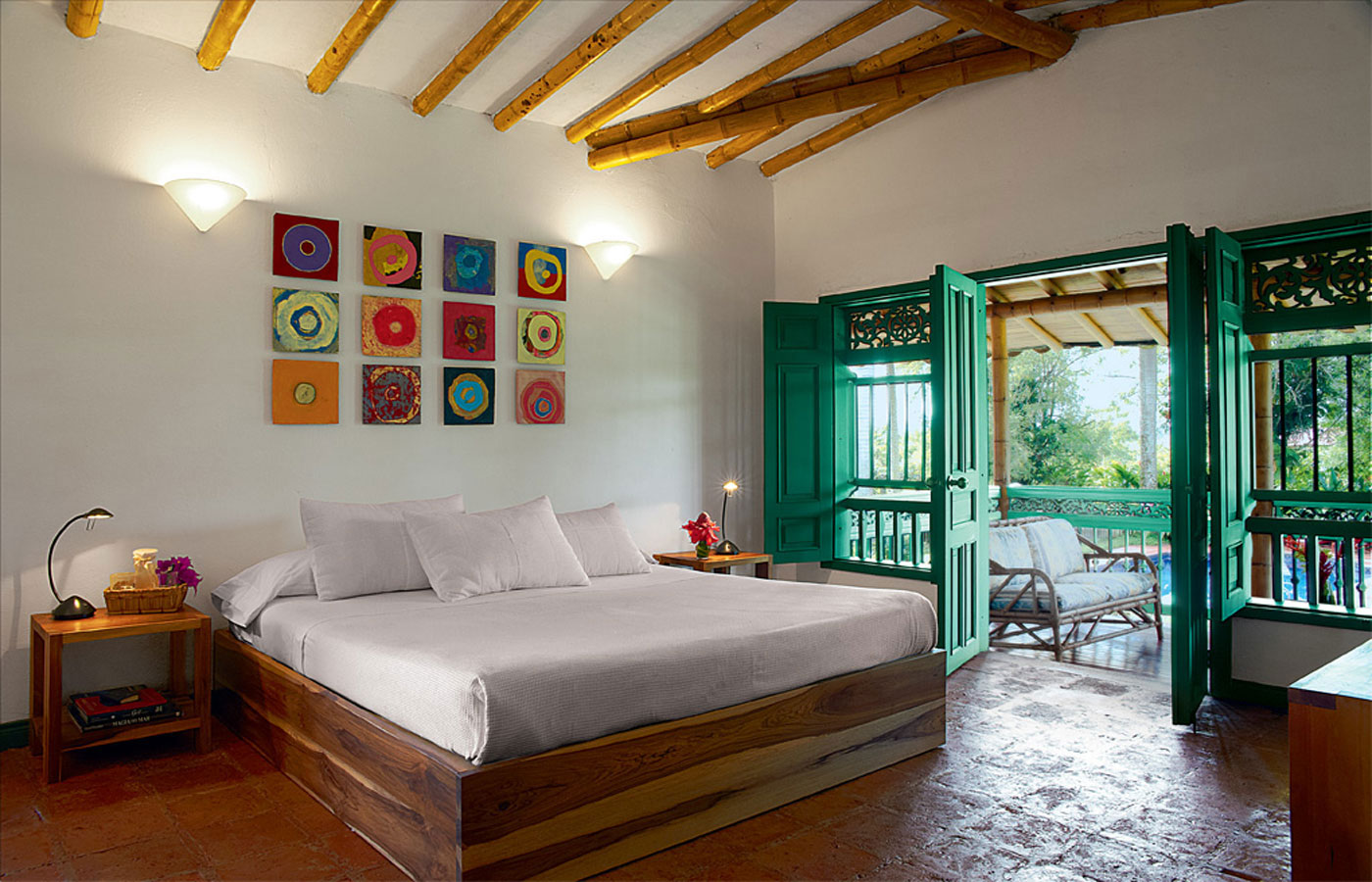 A charming room at Hacienda Bambusa
