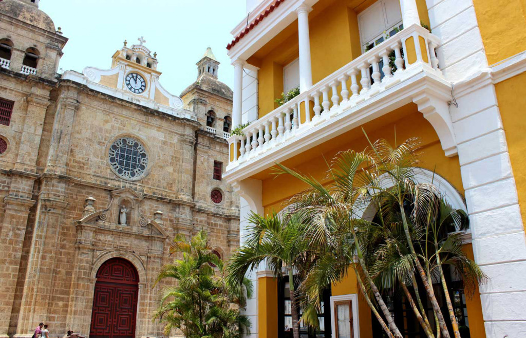 Cartagena - Old City. San Pedro Claver - Colombia.
