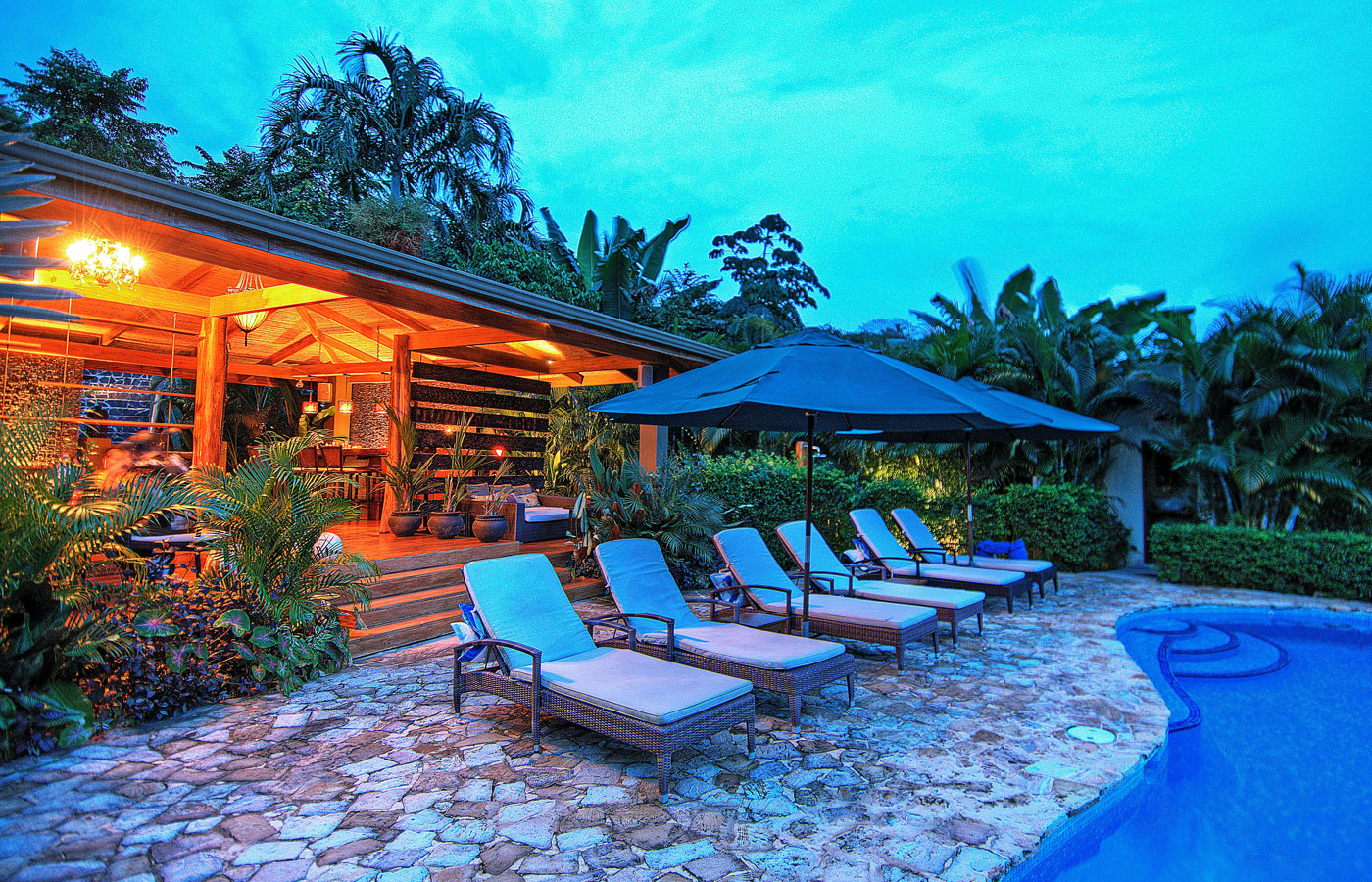 The pool at Casa Chameleon, Nicoya, Costa Rica