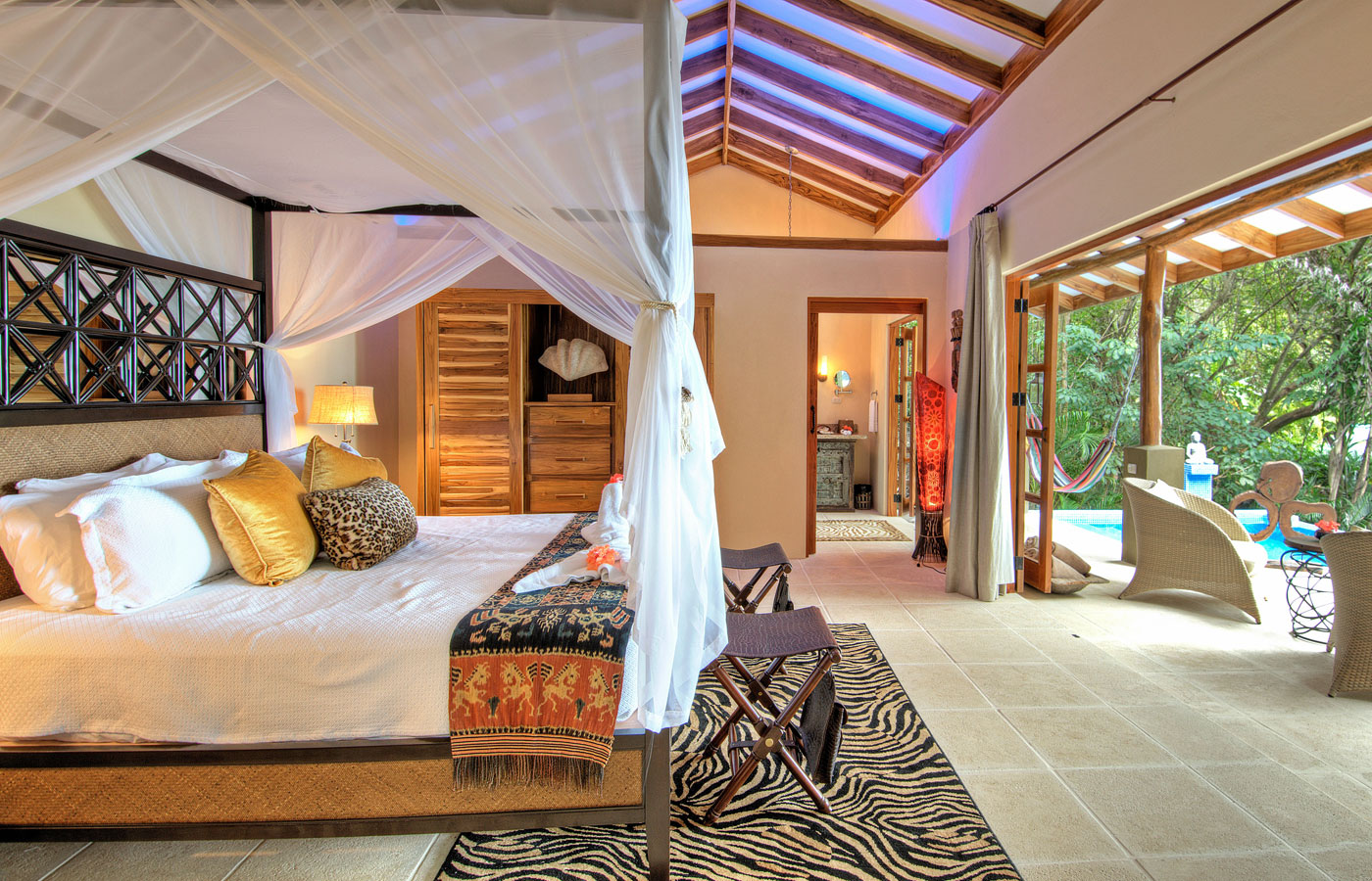 A stylish and secluded room at Casa Chameleon, Nicoya Peninsula, Costa Rica