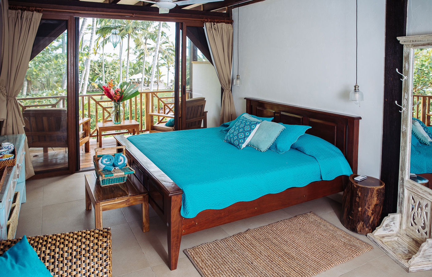A light and airy room at Cayena Beach Villa