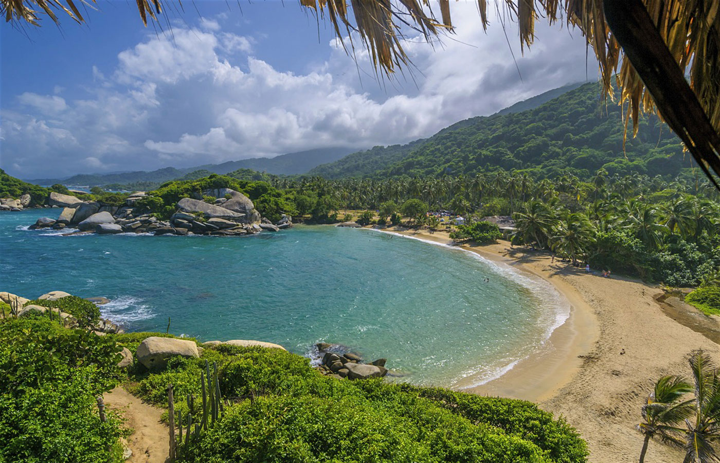 Beautiful beaches in Santa Marta / Tayrona