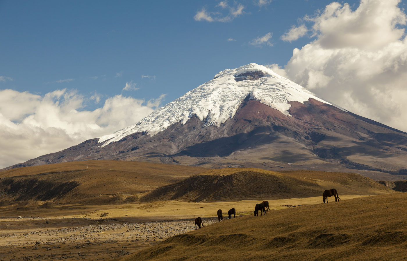 The volcano Cotopaxi in Ecuador