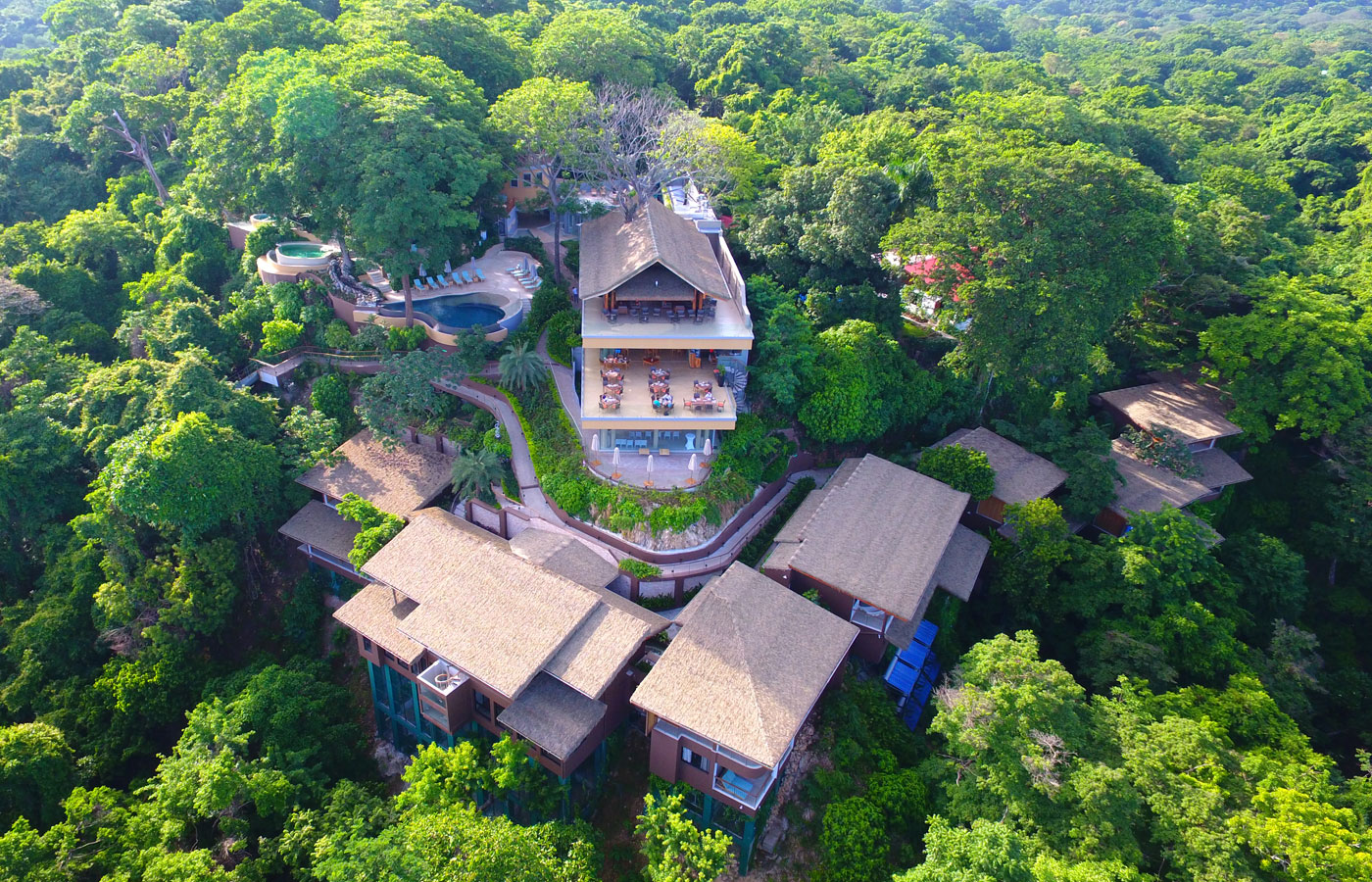 Aerial view of Lagarta Lodge