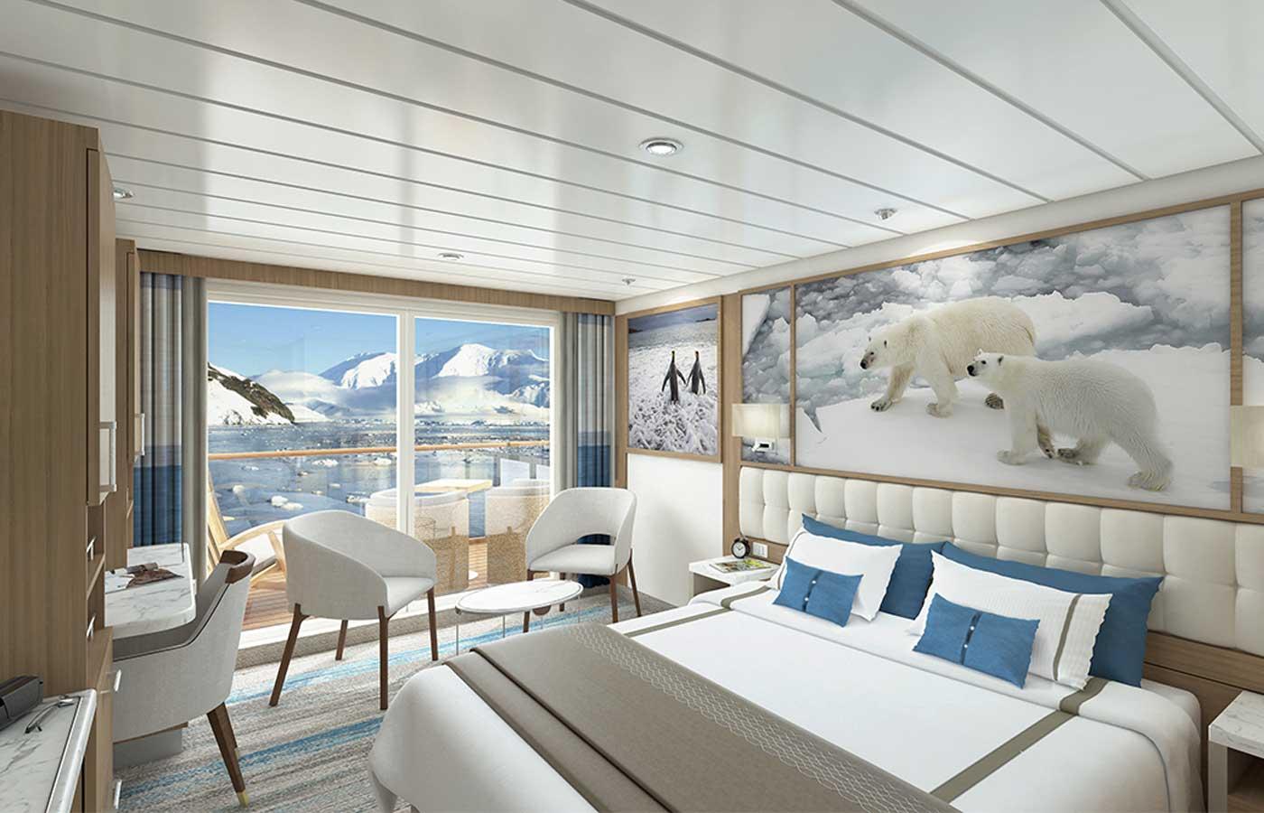 Junior Suite, Greg Mortimer- Antarctica Cruise