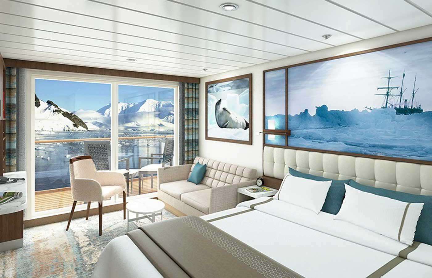 Balcony Suite, Greg Mortimer-Antarctica Cruise