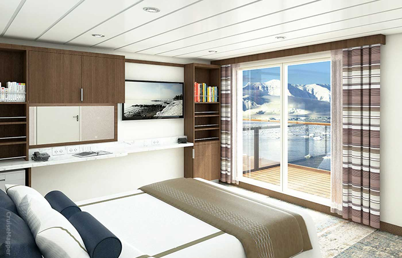 Balcony Stateroom, Greg Mortimer-Antarctica Cruise