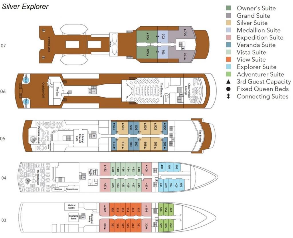Silver Explorer Deck Plan