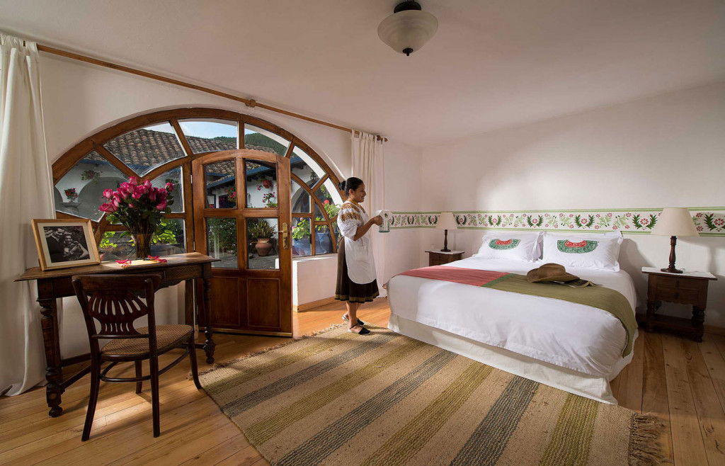 A charming room at Hacienda Zuleta, Ecuador