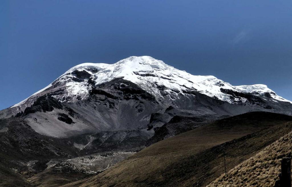 The majestic peak of Chimborazo Volcano, Ecuador
