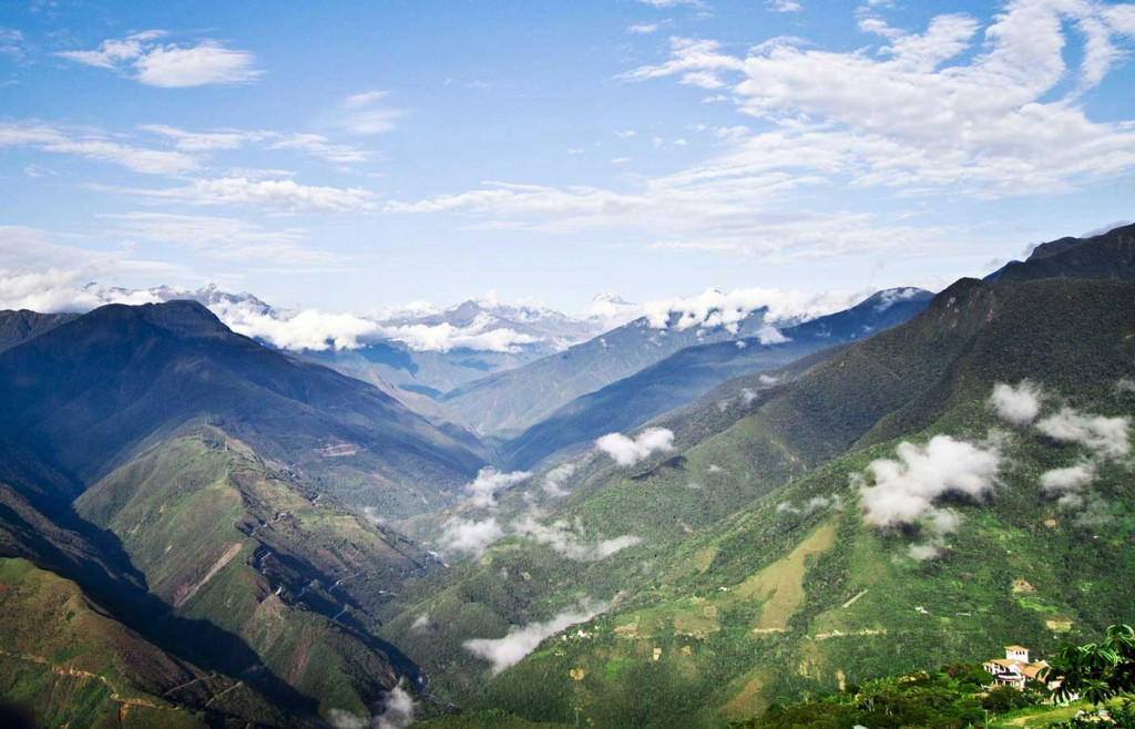 The cloud forested region of the Yungas
