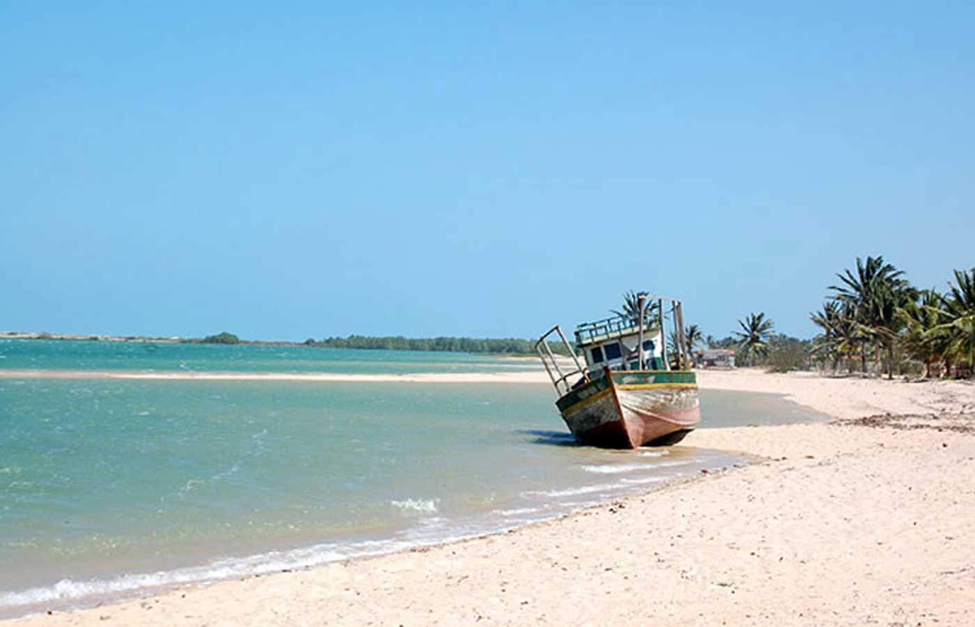 Guajiru beach in Fortaleza, Brazil