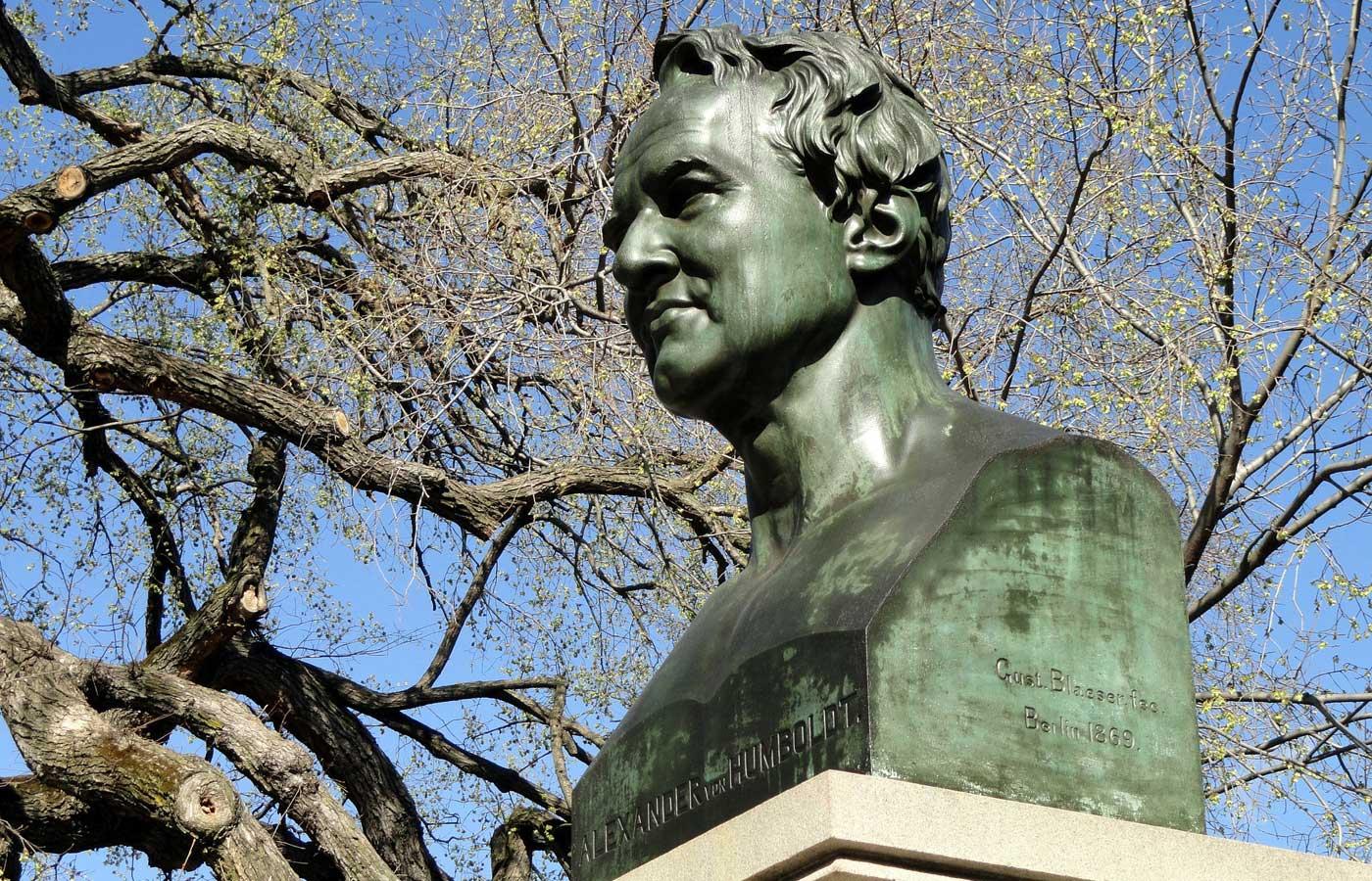 A monument to Alexander von Humboldt in Ecuador