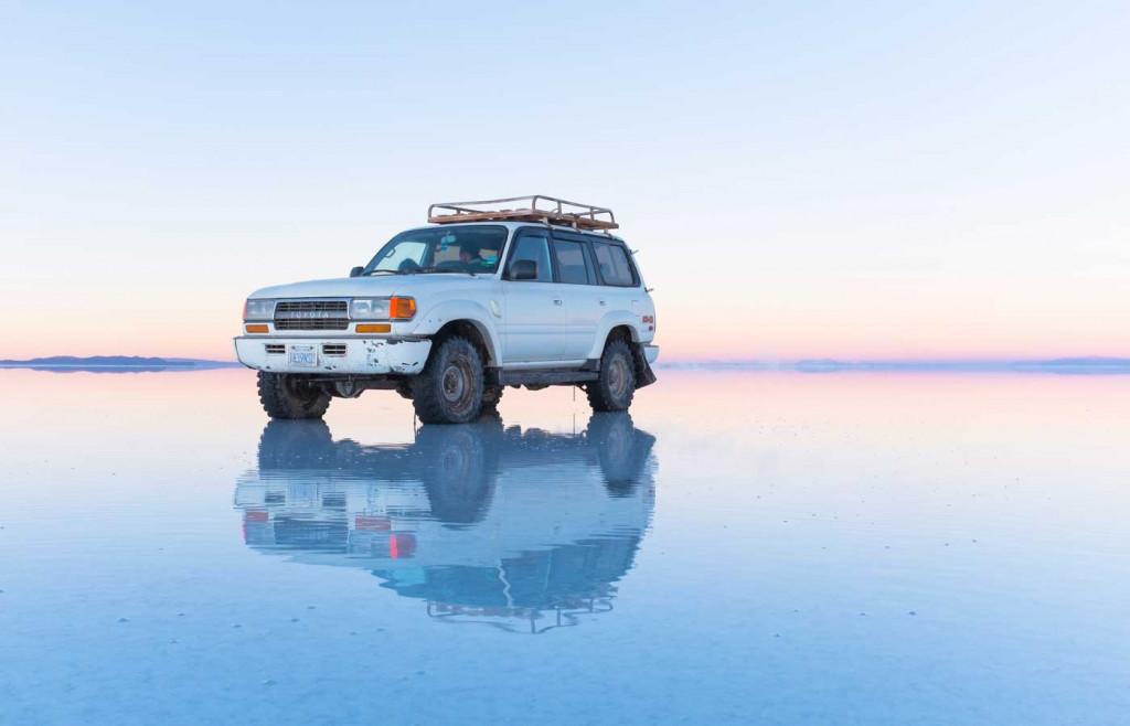 The shimmering Salt Flats in Uyuni, Bolivia