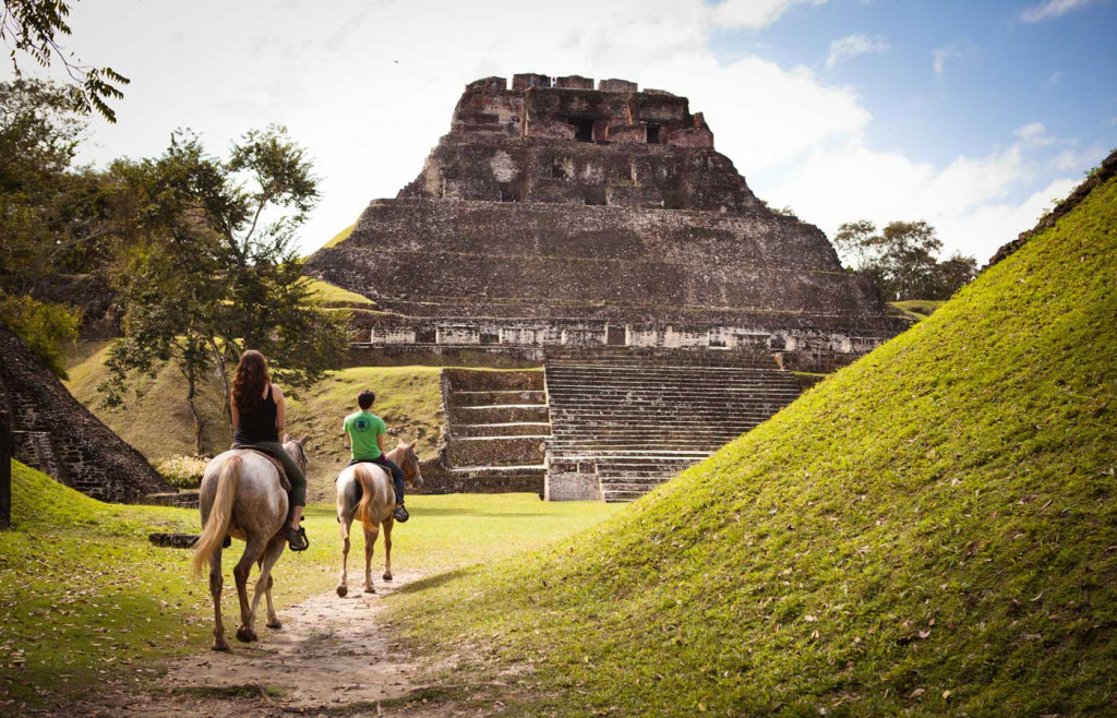 Horseback riding at Xunantunich - luxury holidays to Belize, Ka'ana