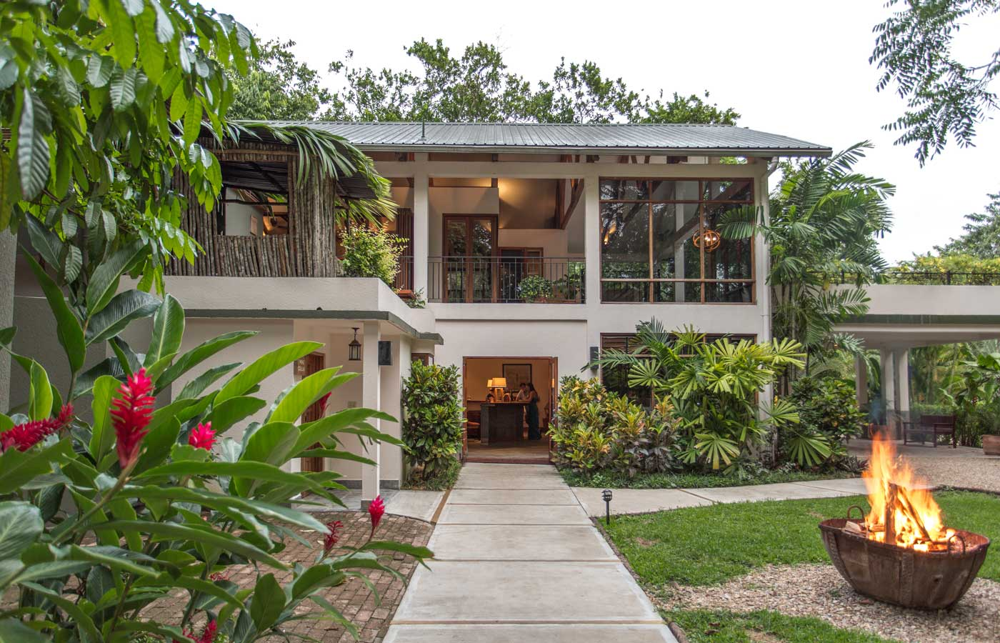 The facade of the main building - Ka'ana Resort - luxury holidays in Belize