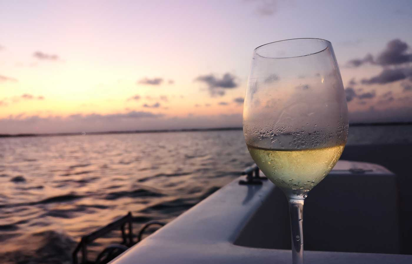 Sunset cruise in Placencia in Southern Belize