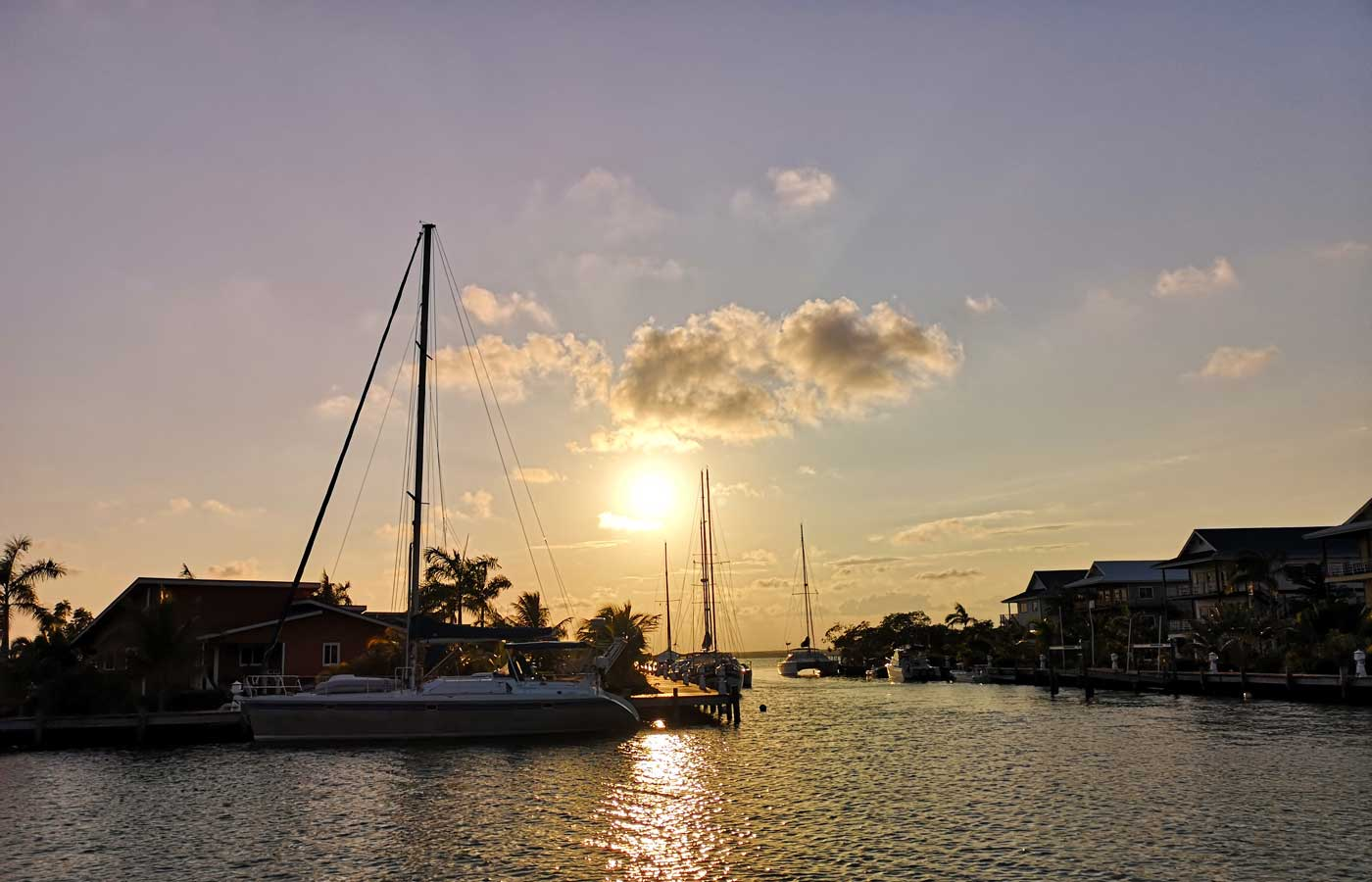Sunset cruise in Placencia, Belize - Luxury holidays to Central America.