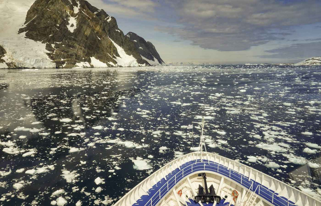 On board the Silver Cloud Expedition Ship, Antarctic Peninsula