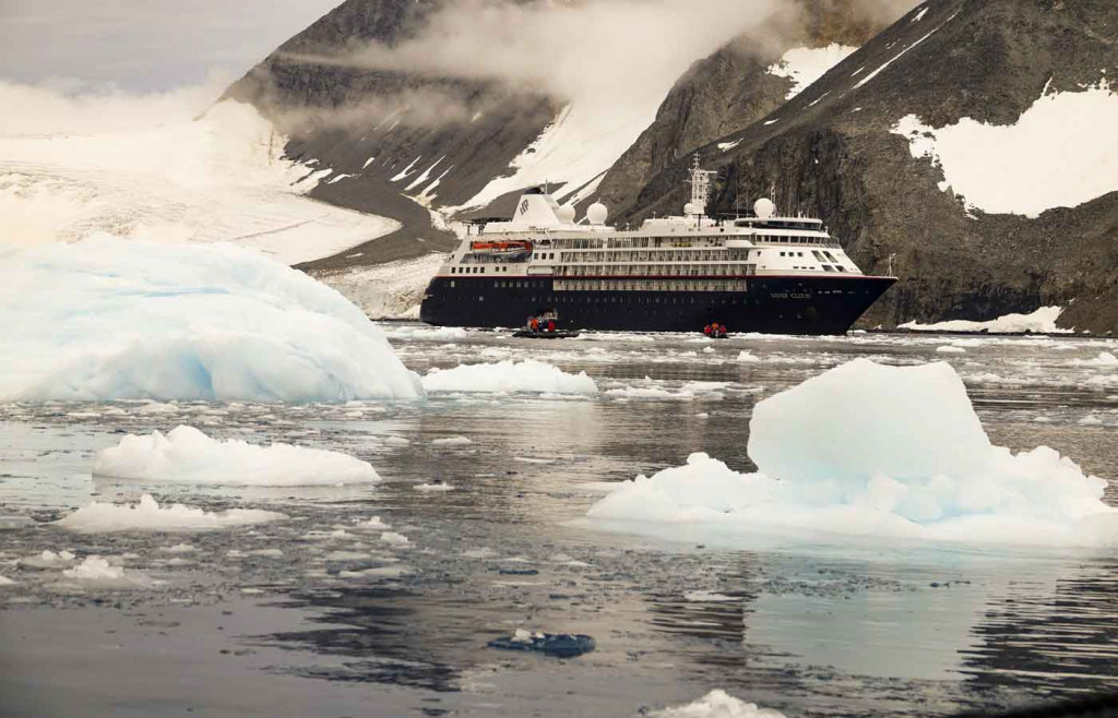 Silver Cloud Expedition Ship, Hope Bay, Antarctica