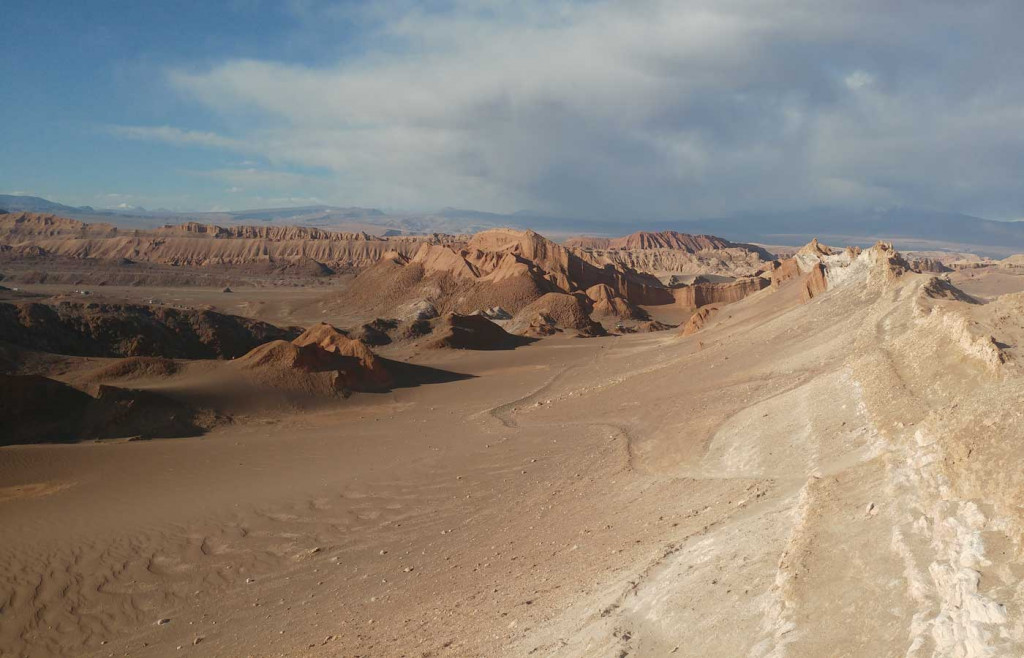 The Moon Valley in the Atacama Desert, northern Chile