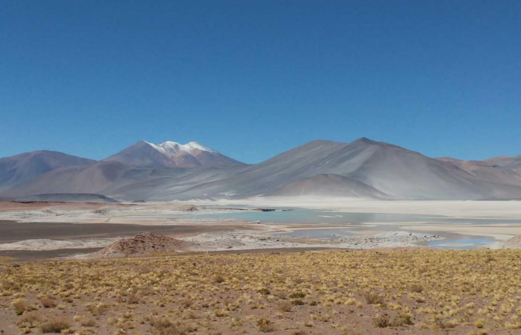 Scenic lagoons in the Atacama Desert