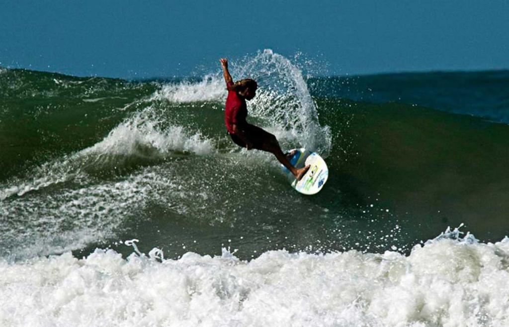 Surfing in Santa Catarina, southern Brazil
