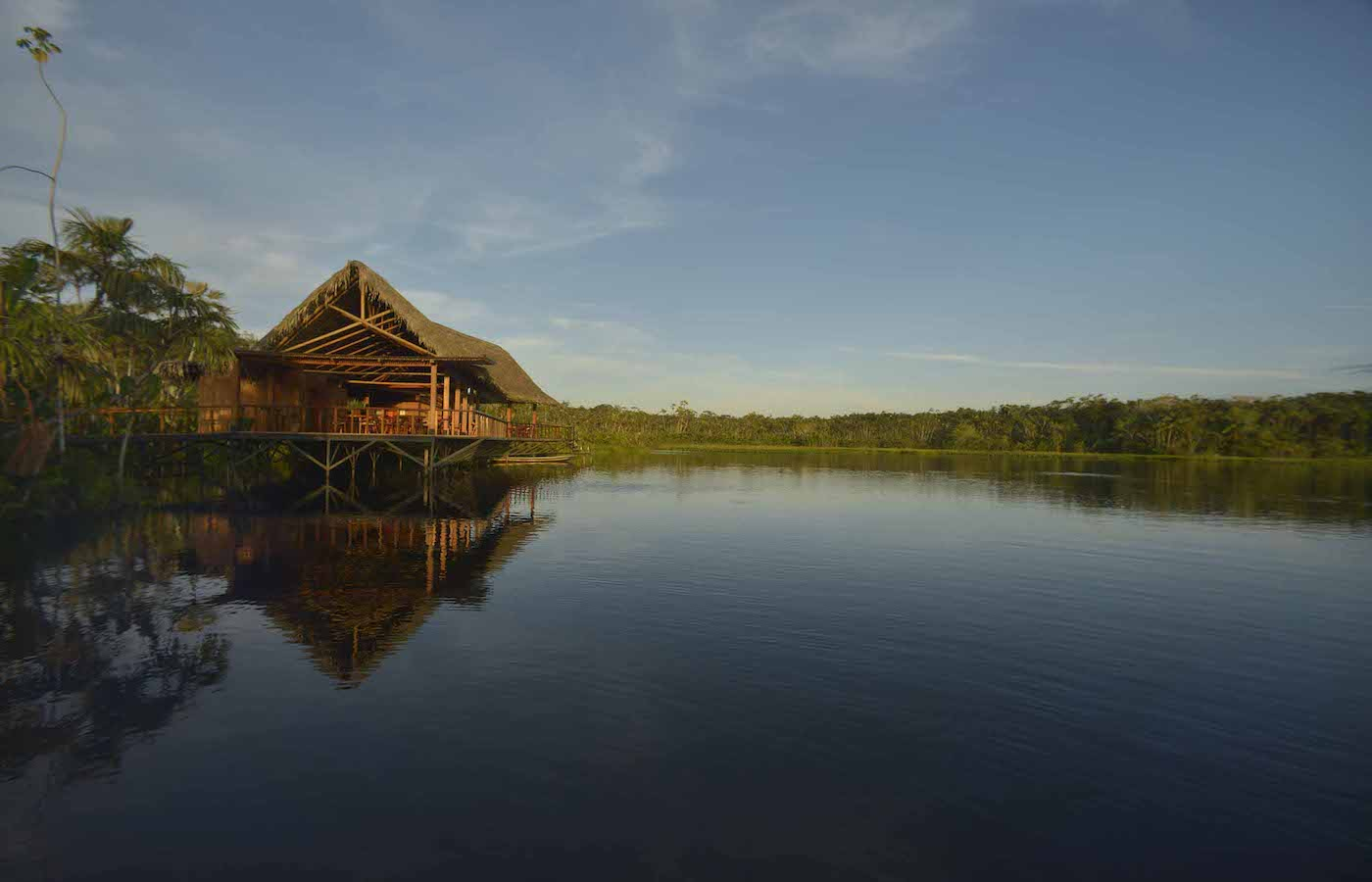Exterior view of Sacha Lodge - Ecuadorian Amazon - Luxury holidays in Ecuador