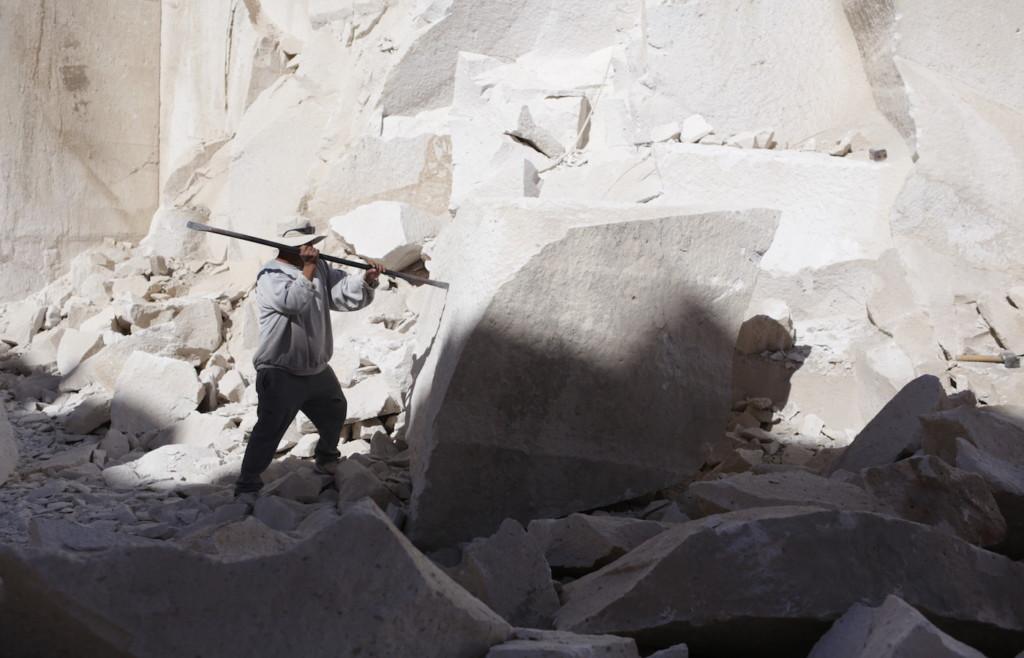 Sillar rock quarry in Arequipa, Southern Peru