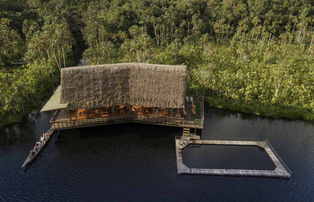Aerial view of Sacha Lodge - Ecuadorian Amazon