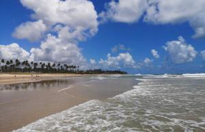 A beach in Porto de Galinhas beach, northern Brazil
